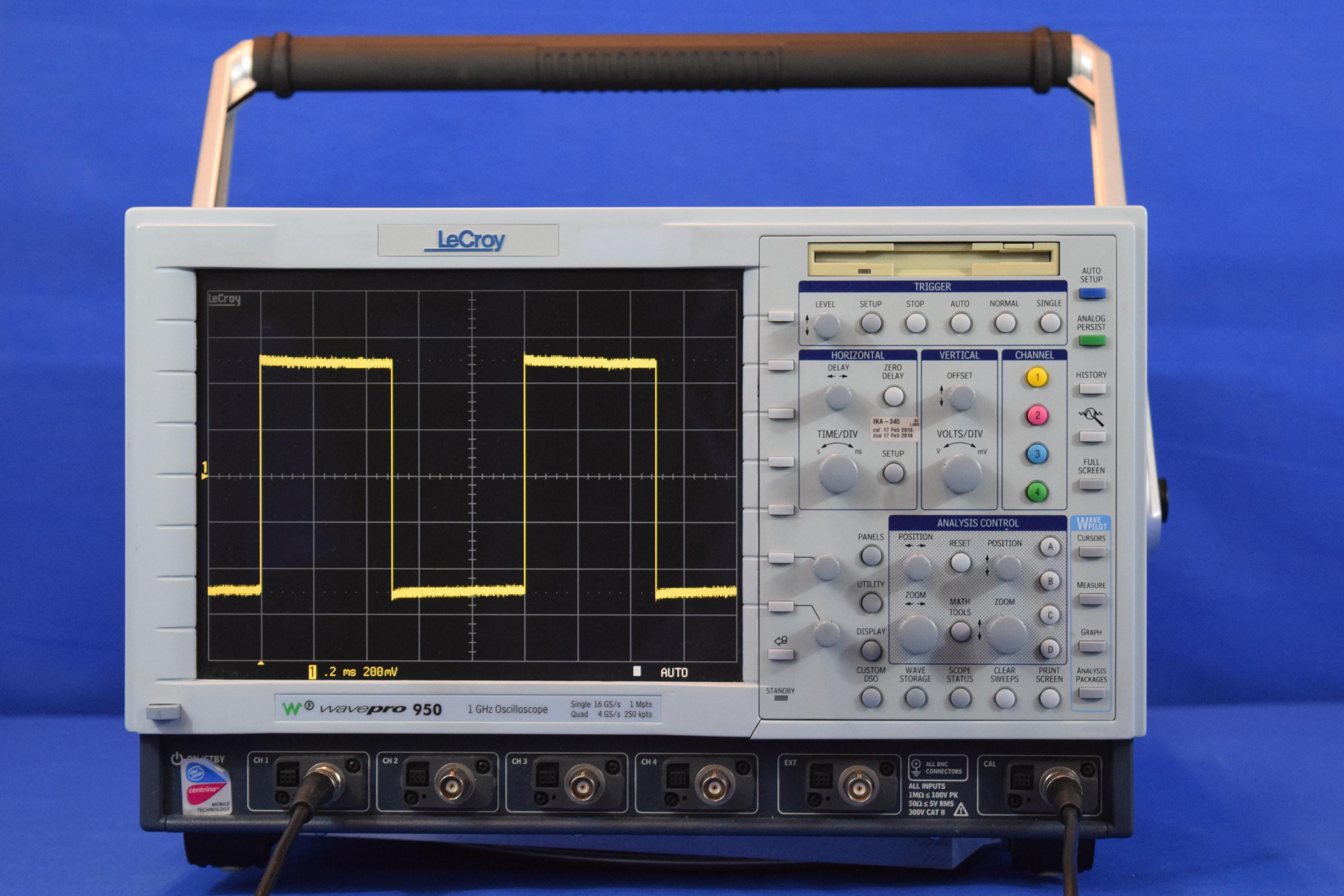 Oscilloscope Pulse Measurement : Lecroy ghz gsa s ch digital oscilloscope