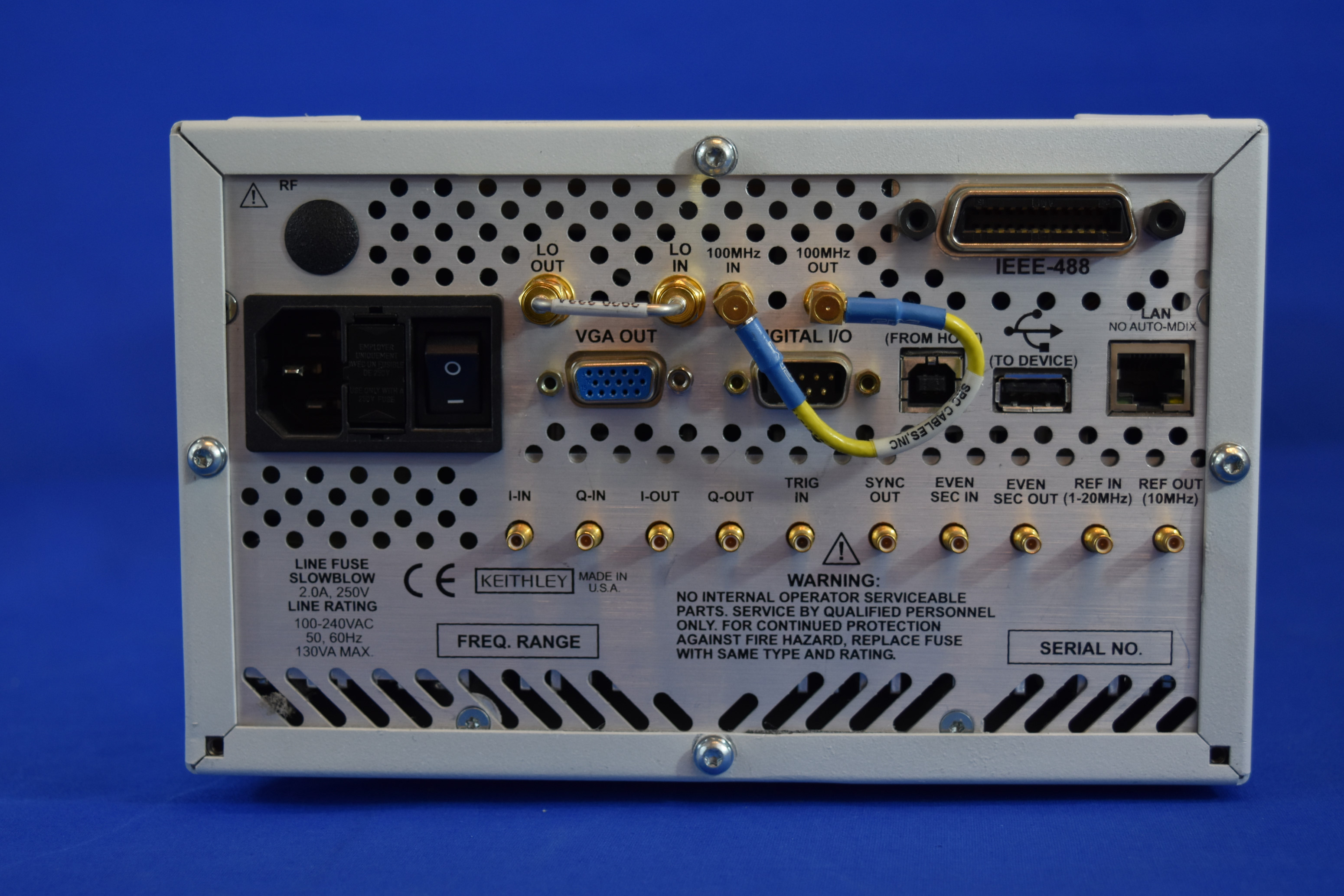 Keithley 2920a Agilent V2920a Rf Vector Signal Generator 001 60 20mhz High Speed Ghz